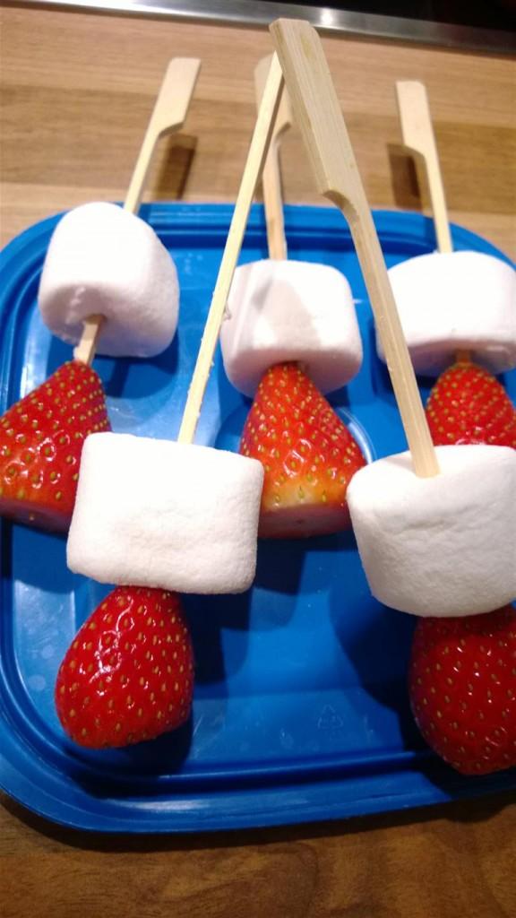 Erdbeeren mit Marshmallow 2