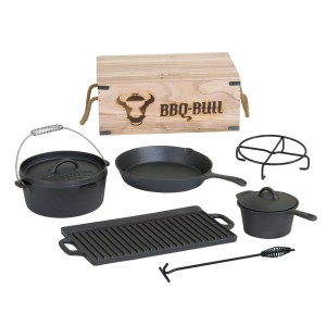Dutch Oven BBQ Bull Set